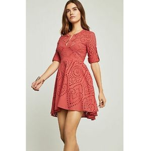 BCBG MAX AZRIA NWT Eyelet Embroidery Red Dress